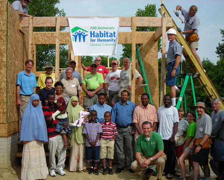 habitat-wall-raising WORLD HABITAT DAY