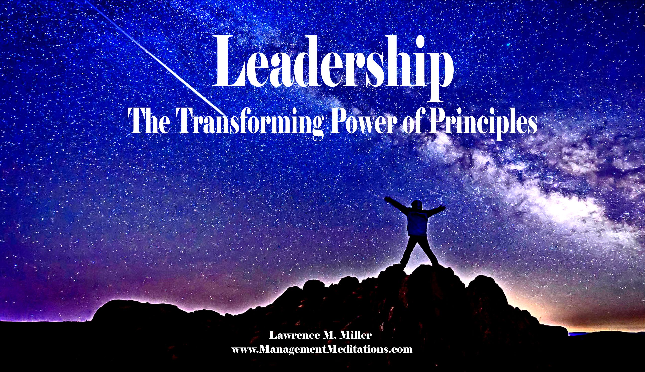 My latest course on the Transformational Power of Principles